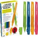 Rašiklis deVente Study Pen, dešiniarankiams, 0.7mm, įvairių spalvų