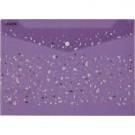 Aplankas - vokas deVENTE Crystal Dream, A4, 180mic, violetinės spalvos