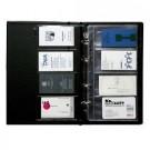 Vizitinių kortelių albumas Panta Plast, 200 kortelių, juodos spalvos, 16 lapų