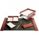 Darbo stalo rinkinys Forpus 6 dalių 470354, rudos spalvos