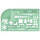 Lekalas architektams Linex 1258S, 200x115mm