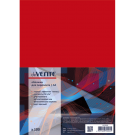 Kartoninės įrišimo nugarėlės Chromo, A4, 250g, blizgios, raudonos spalvos, 100vnt