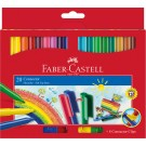 Flomasteriai Faber-Castell Connector Clips, 20 spalvų