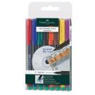 Permanentinių rašiklių rinkinys Faber-Castell Multimark S. 0.4mm. su trintuku. 8 spalvos (P)