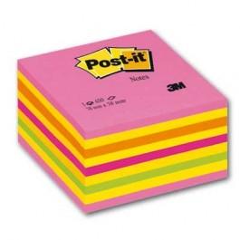 Lipnūs lapeliai Post-it, 76x76mm, 450 lapelių, geltonos ir rožinės spalvos
