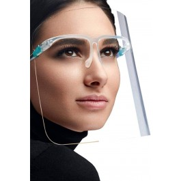 Apsauginis veido skydelis su akiniais