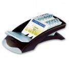 Stovas vizitinėms kortelėms Durable. 200 kortelių. sidabrinės/juodos spalvos(P)