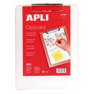 Pagrindas rašymui Apli, A4, be atvertimo, su prispaudėju viršuje, plastikinis