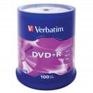 *Diskas DVD+R Verbatim 4,7GB, 16x, matte silver, ant iešmo, 100vnt.
