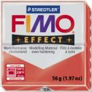Modelinas Fimo, 56g, skaidrios  raudonos spalvos