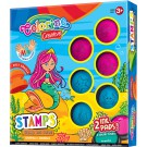 **Vaikiškų antspaudukų rinkinys Colorino Creative MERMAID, 6vnt + 2 pagalvėlės