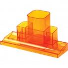 Pieštukinė deVENTE Tower, plastikinė, 7 skyrių, oranžinės spalvos