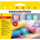 Spalvota kreida EberhardFaber, apvali, su blizgučiu, 6vnt, įvairių spalvų