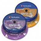 Vienkartinio įrašymo diskai Verbatim DVD-R Azo Matt Silver, 4.7GB, 16x, 25vnt. ´tortas´ 43522