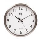 Apvalus sieninis laikrodis Hansa TIQ F6664A, 30cm, baltos spalvos