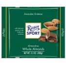 Pieniškas šokoladas Ritter Sport, su neskaldytais migdolų riešutais, 100g