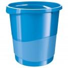 Šiukšliadėžė Esselte Europost Vivida, 14 litrų, šviesiai mėlynos spalvos (P)