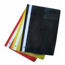 *Plastikinis segtuvėlis College, A4, skaidriu viršeliu, su įsegėle, su kišenėle, juodos spalvos