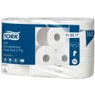Tualetinis popierius Tork Premium Extra Soft T4 (110317), baltos spalvos, 3 sluoksniai, 35 m, 248 lapeliai, 6 rulonai