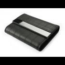 Dėklas vizitinėms kortelėms, 80x111x20mm, dirbtinės odos, juodos spalvos
