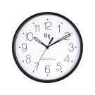 Apvalus sieninis laikrodis Hansa Tiq W99151DST, 22.5cm, plastikinis, juodos spalvos