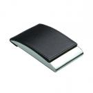 Dėklas vizitinėms kortelėms, 98x64x14mm, dirbtinės odos, juodos spalvos