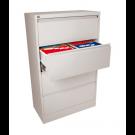 Spinta dokumentams Esselte, metalinė, 4 stalčiai, A4 formatui, baltos spalvos (P)