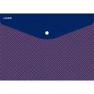 Aplankas-vokas deVENTE,Blue&Red, A5, 0,15mm, horizontalus, su spaustuku, plastikinis