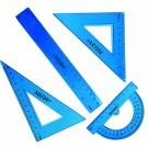 Liniuočių rinkinys deVENTE, 4 dalių, mėlynos spalvos