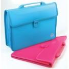Dėklas-rankinė Centrum, A4, 390x270mm, 2 skyrelių, su plastikine sagtimi, įvairių spalvų