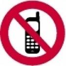 Ženklas su mobiliaisiais telefonais draudžiama, 1vnt