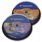 Vienkartinio įrašymo diskai Verbatim DVD-R, 4.7GB, 16x, AZO, Matt silver, 10vnt. ´tortas´
