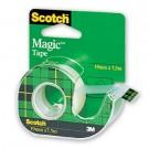 Lipni juosta Scotch Magic 810, 19mmx7,5m, su laikikliu