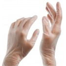 Disposable vinyl gloves MERCATOR, M size, transparent, powder-free, 100 pcs.